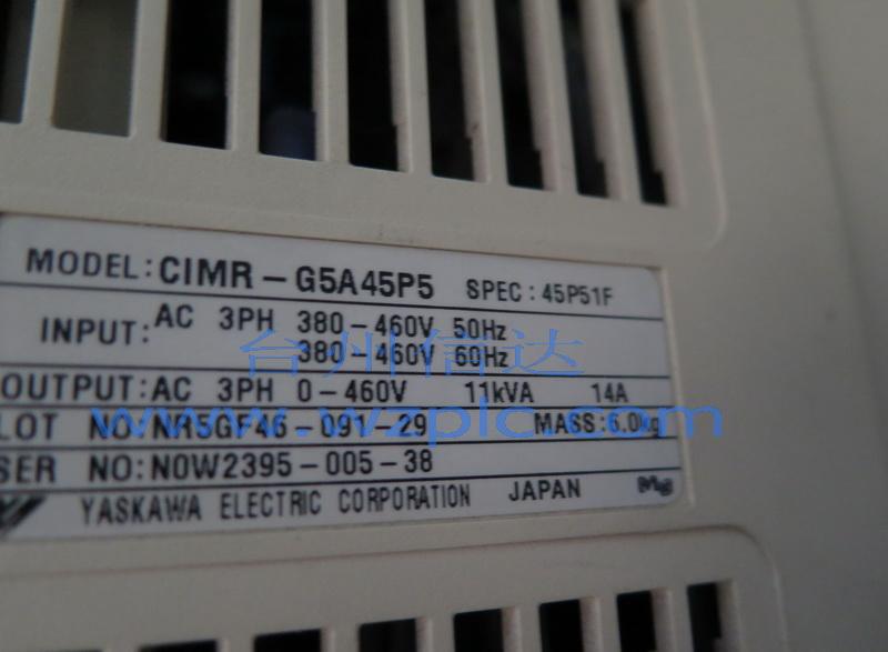 二手安川变频器cimr-g5a45p5无操作面板 台州信达